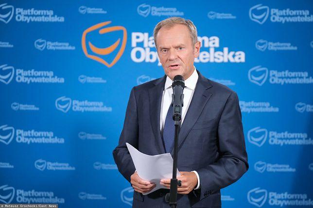 Donald Tusk o Marianie Banasiu: polityczny świadek koronny