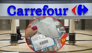 Pracownik Carrefour nakleił jedną etykietę na drugą, a nie powinien tego robić.