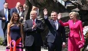 Lipiec 2017. Warszawa. Donald Trump i Andrzej Duda podczas wizyty amerykańskiego prezydenta w Polsce