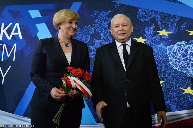Prezes PiS pojawił się z Anną Fotygą na konferencji w Słupsku