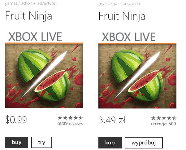 Wersja dla Windows Phone 7.x (wcześniej też 8)