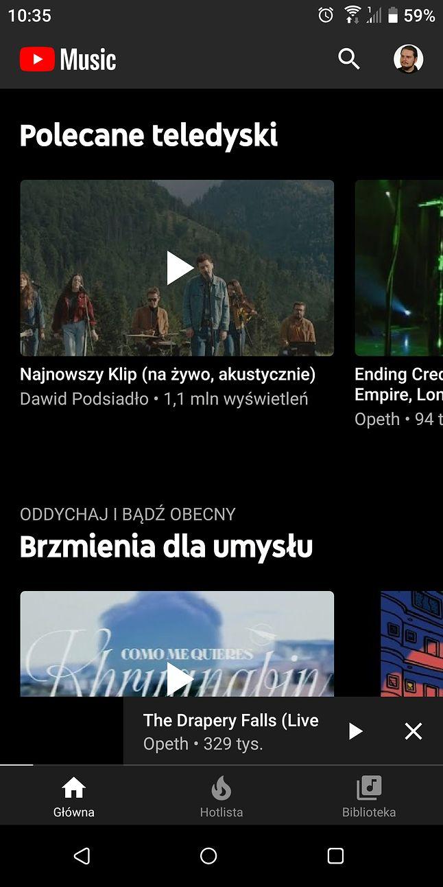 YouTube Music jeszcze w wersji 3.37
