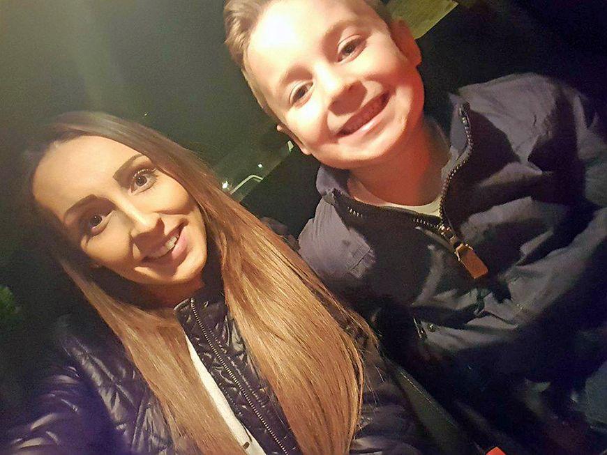Shanice Sturdy z synem