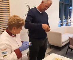 Vital Heynen w roli pomocnika kuchennego. Czy umie lepić pierogi?