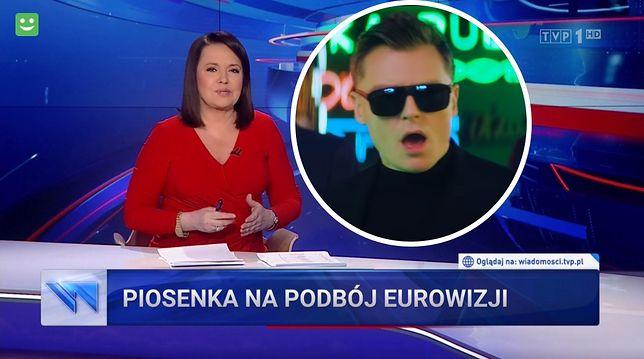 """""""Wiadomości"""" promują kolegę z TVP, który wystąpi na Eurowizji"""