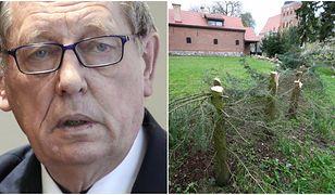Minister Szyszko mówi o zakrwawionej siekierze pozostawionej przez włamywaczy. Policja nic o tym nie wie