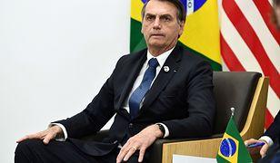 Prezydent Brazylii Jair Bolsonaro