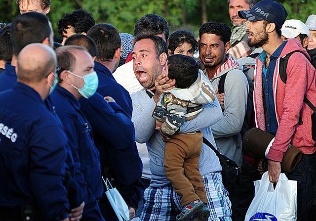 Uchodźcy znów przedarli się przez kordon policji - zdjęcia