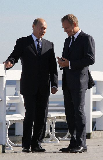 Tusk zabrał Putina na molo