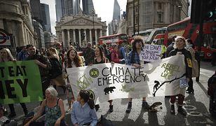 """Londyński protest """"Extinction Rebellion"""""""