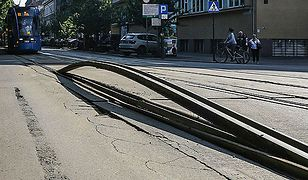 Problemy z torowiskami na krakowskich ulicach. Szyny nie wytrzymują ciepła