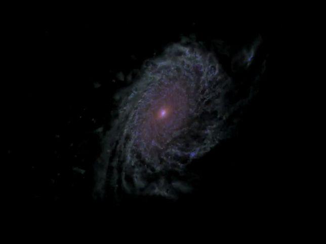 Zobacz symulację życia galaktyki stworzoną przez NASA
