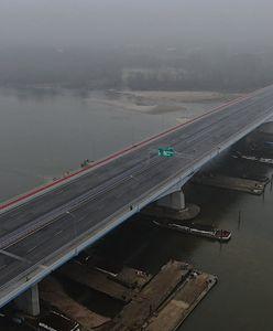 Warszawa. Most Anny Jagiellonki. Dla upamiętnienia pierwszej przeprawy przez Wisłę