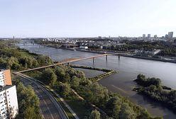 Warszawa. Nowy most przez Wisłę. Tylko dla pieszych i rowerzystów