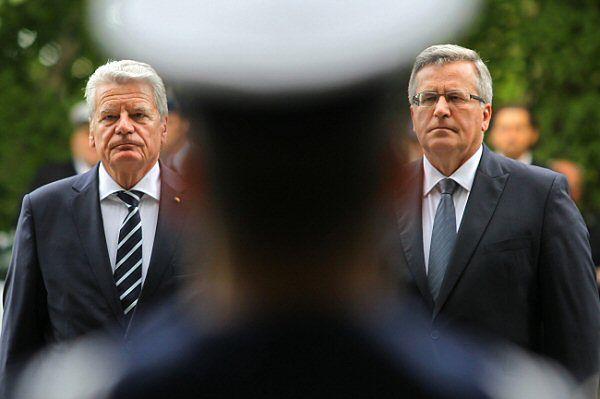 Bronisław Komorowski i Joachim Gauck na Westerplatte
