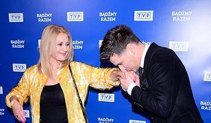 Majka Jeżowska i Tomasz Kammel na imprezie TVP