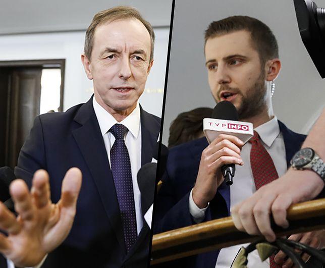 Tomasz Grodzki odpowiadając dziennikarzowi TVP Info, nie pozwolił sobie przerwać