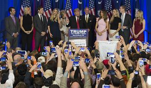 Donald Trump podczas jednego z wystąpień
