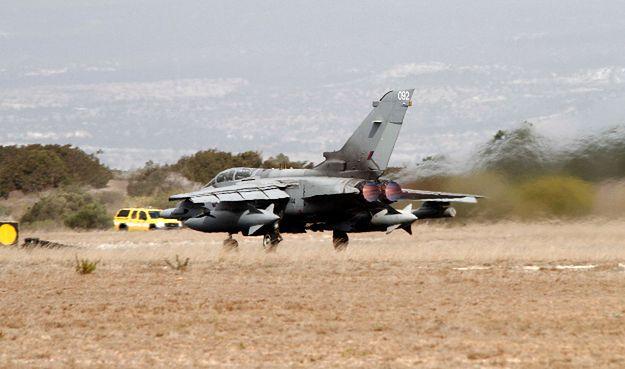 Tornado GR4 należący do brytyjskich sił