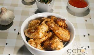 Czosnkowy kurczak w cieście. Szybki obiad