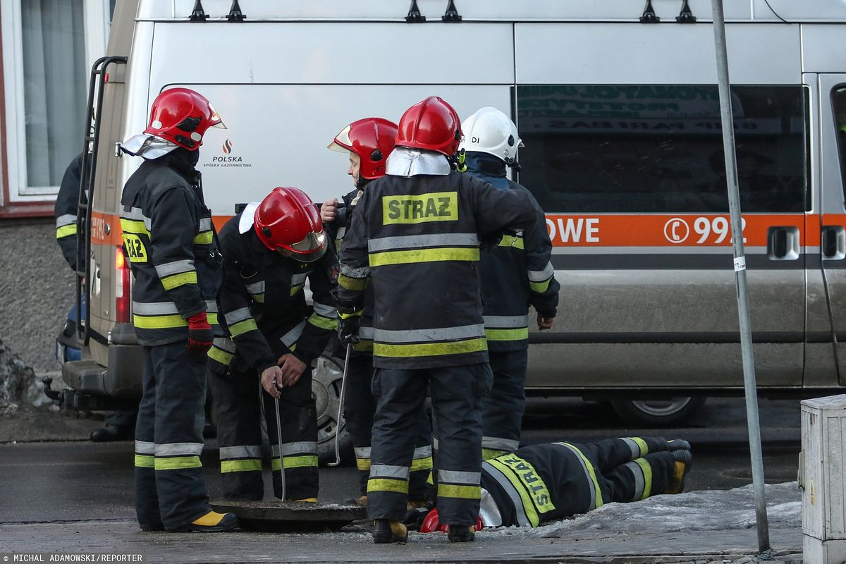 Kałuszyn: koparka uszkodziła gazociąg. Ewakuowano pobliską szkołę i przedszkole