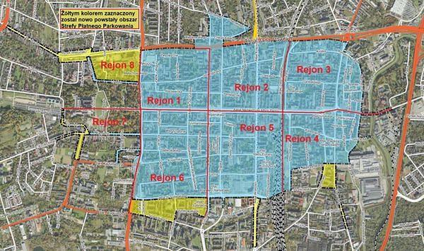 Częstochowa. Władze miasta powiększają strefę płatnego parkowania.