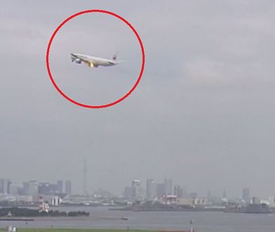 Moment zapalenia się silnika w samolocie linii JAL uchwycony na filmie.