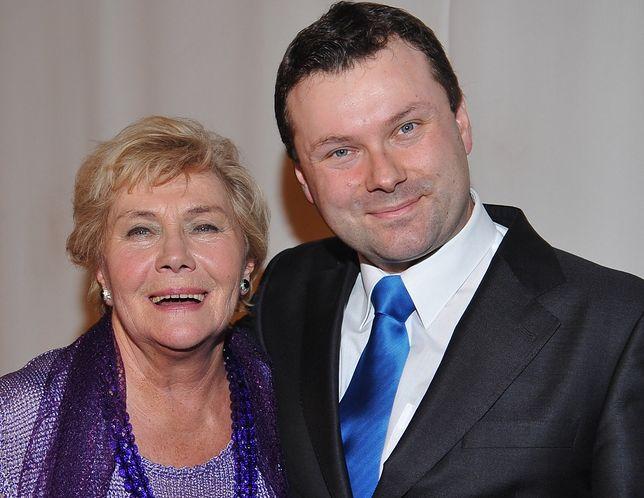 Teresa Lipowska z synem