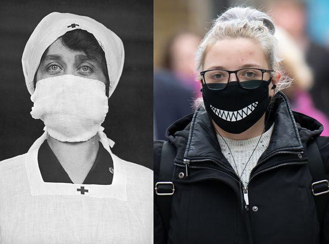 Ochrona przed wirusem w 1918 i 2020 r.