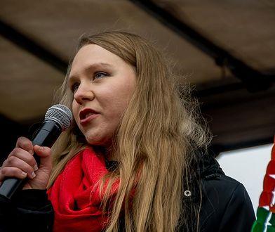 Maja Staśko przemawia na demonstracji