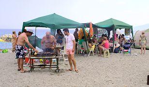Grillowanie na polskiej plaży