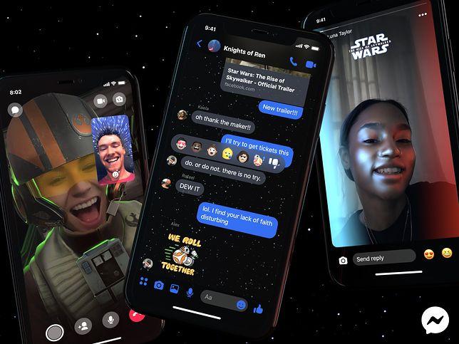 """Facebook szykuje się na Gwiezdne Wojny. Messenger zyskał """"moc"""""""