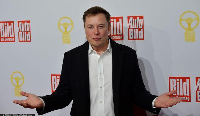 Elon Musk, najbogatszy człowiek na świecie, szef firm Tesla i SpaceX