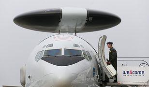 W Warszawie wylądował AWACS. Takie maszyny patrolują przestrzeń NATO [ZDJĘCIA]