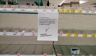 Wymiecione półki i limit sprzedaży