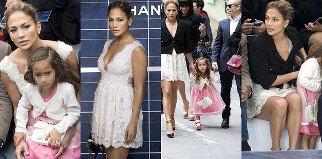 Jennifer Lopez zabrała córeczkę i partnera na pokaz Chanel
