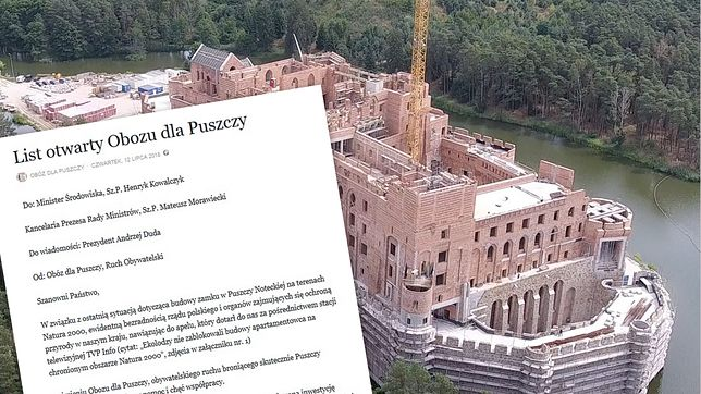 Ekolodzy znani z obrony Puszczy Białowieskiej odnieśli się do sprawy zamku w Stobnicy