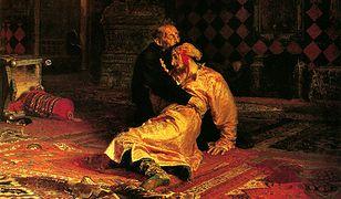 "Obraz Ilji Repina ""Car Iwan Groźny i jego syn Iwan 16 listopada 1581 roku"""