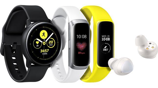 Nowe zegarki i słuchawki bezprzewodowe Samsunga.