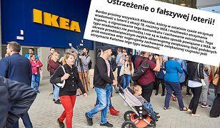 Ikea ostrzega klientów przed fałszywą loterią.