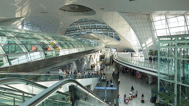 Stacja kolejowa na lotnisku Seul-Incheon w Korei Południowej