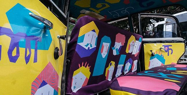 Przerabiają taksówki w jeżdżące dzieła sztuki