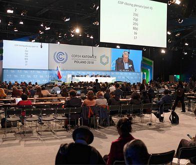 Sesja plenarna Szczytu Klimatycznego w Katowicach