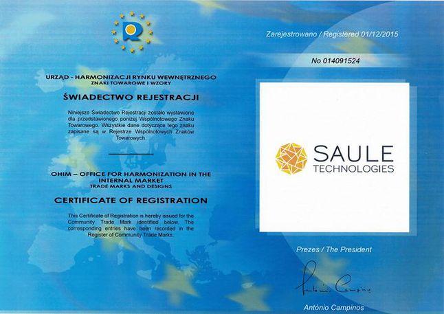 Certyfika Saule Technologies.