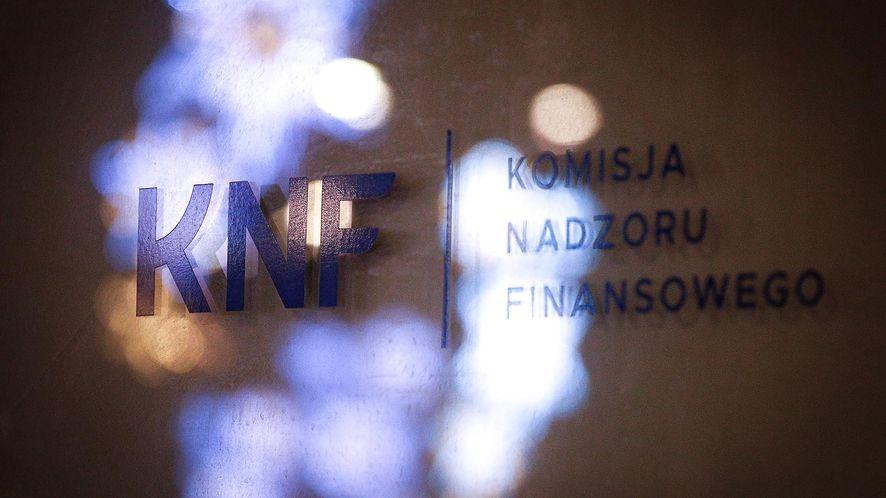 Komisja Nadzoru Finansowego ostrzega.