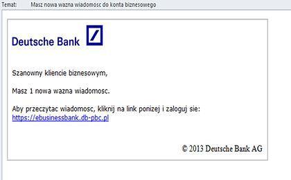 Deutsche Bank na celowniku oszustów