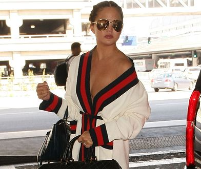 LOOK OF THE DAY: Chrissy Teigen w kardiganie Gucci
