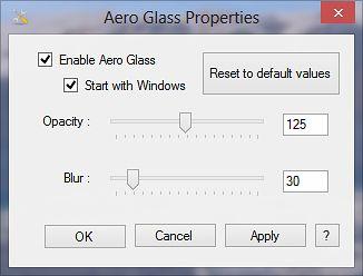 Rozmycie, pełne Aero