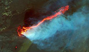 Położony na Islandii wulkan Askja może niedługo wybuchnąć. Na zdjęciu erupcja na pobliskim polu lawowym Holuhraun, 2014 rok.