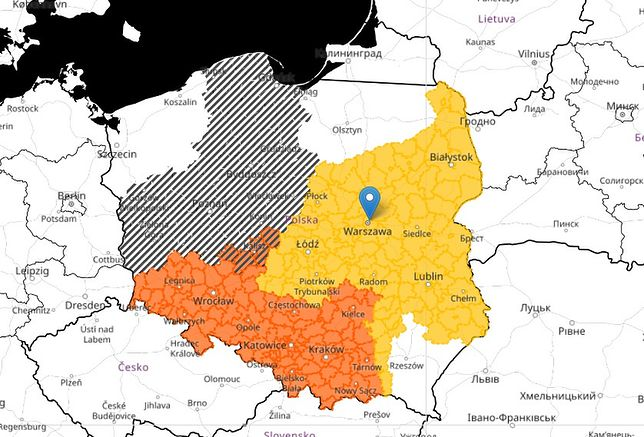 Mapa prognozy zagrożeń IMGW